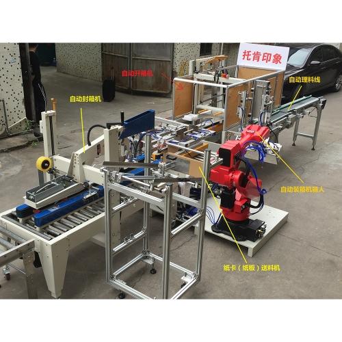 广州自动开箱+机器人装箱+自动封箱
